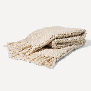 NEW Burrow Ivory Knit Throw
